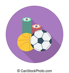 Sport games Flat vector icon for mobile and web applications...