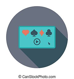 Video game Flat vector icon for mobile and web applications...