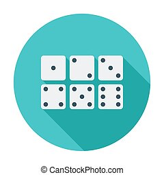 Craps icon - Craps Flat vector icon for mobile and web...