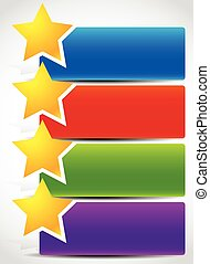 Banner backgrounds with star shapes. Vector illustration.