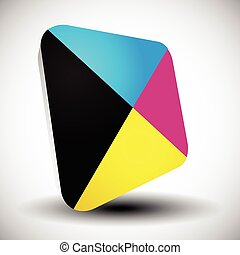 Cmyk icon. Graphics for prepress, DTP, press, printing...