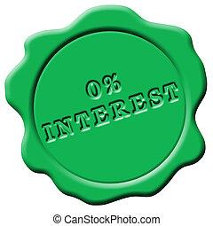 Green wax seal 0% interest