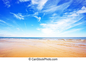 Sea and blue sky - Sea and beautiful blue sky