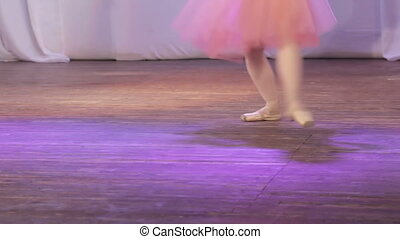 Ballet single feet - On stage legs dancing ballet single