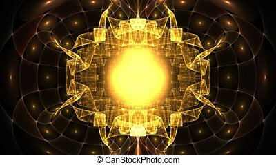 Inside the collider - HD abstract fractal art transformation...