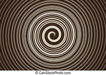 abstract spiral brown - abstract of brown spiral for...