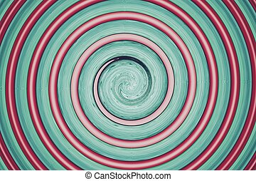 abstract spiral green and red - abstract of green and red...