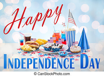 happy independence day, national holidays, celebration, food...