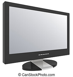 Flat screen television , blank screen