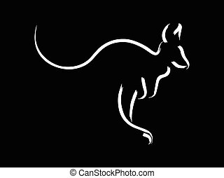 Kangaroo - Simple sketch of a kangaroo