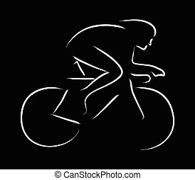 Cycling - Simple graphic of a cyclist