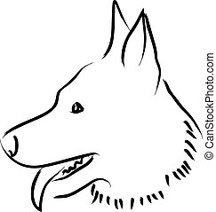 Dog - Simple graphic of a dog