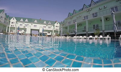 Tourist hotel with swimming pool