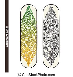 Skateboard Design Five - Design skateboard with a color and...