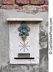 Traditional doorbell in Venice - Traditional decorative...