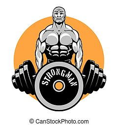 T-shirt vector design for bodybuilders and fitness club....