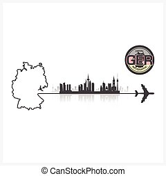 Germany Skyline Buildings Silhouette Background