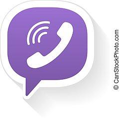 IM instant messager phone handset - Vector IM instant...