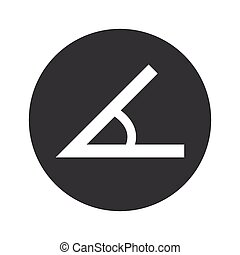 Monochrome round angle icon - Image of angle in black...
