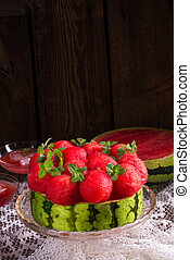 cooled watermelon pie