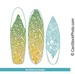 Surfboard Design Five - Design surfboard with a color and...