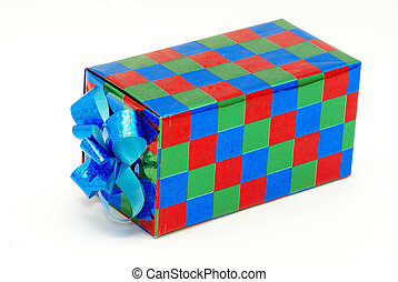 present box - A present box wit bow on white