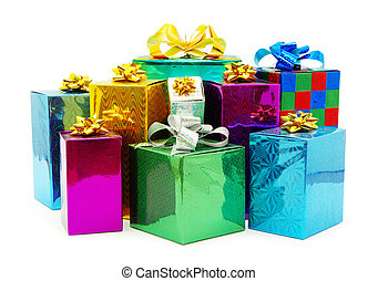 christmas gifts - Christmas box gifts with satin bow...