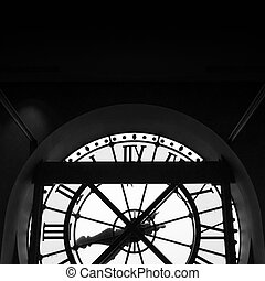 Orsay Museum (Musee d'Orsay) clock in Paris, France