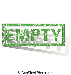 Green outlined EMPTY stamp