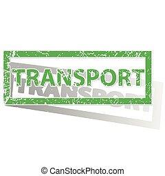 Green outlined TRANSPORT stamp