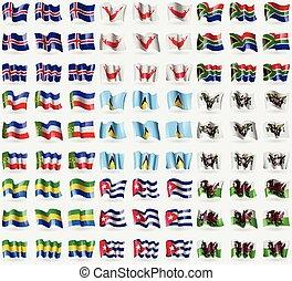 Iceland, Easter Rapa Nui, South Africa, Khakassia, Saint...