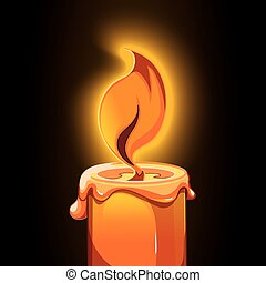 candle icon - candle picture on dark background