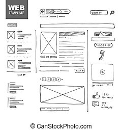 Web page sketch - Vector illustration. Web page sketch