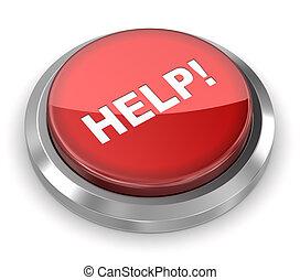 押し, ボタン,  -, 助け