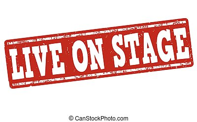 Live on stage stamp