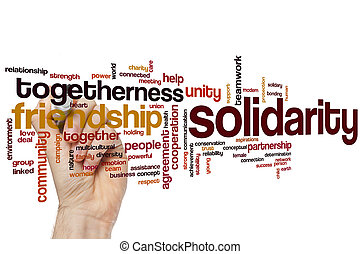 Solidarity word cloud concept