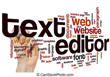Text editor word cloud concept