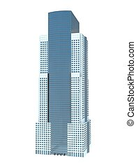 single skyscraper - single business skyscraper isolated on...