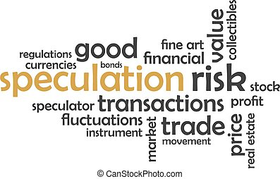 word cloud - speculation - A word cloud of speculation...