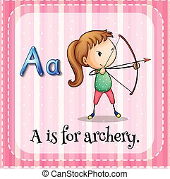 Archery - Flashcard letter A is for archery
