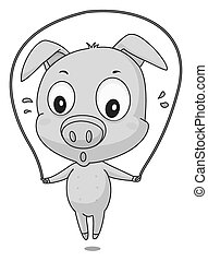 Pig exercise