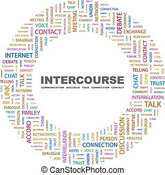 INTERCOURSE. Concept illustration. Graphic tag collection....