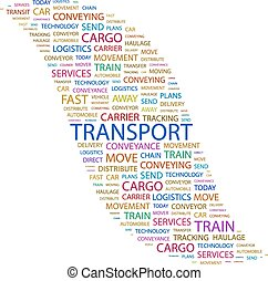 TRANSPORT Word cloud concept illustration Wordcloud collage...