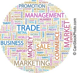 TRADE Word cloud concept illustration Wordcloud collage