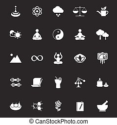 Zen concept icons on gray background