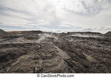 Krafla lava field in Iceland, June 2015
