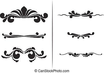 6 hand drawn ed  swirl frames