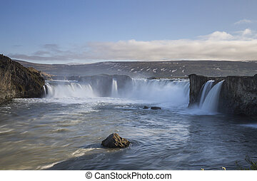 Godafoss Waterfall in Iceland, June 2015