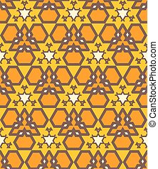 orange brown yellow color abstract geometric seamless pattern