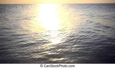 Scenic view of beautiful sunset above the sea Change focus...